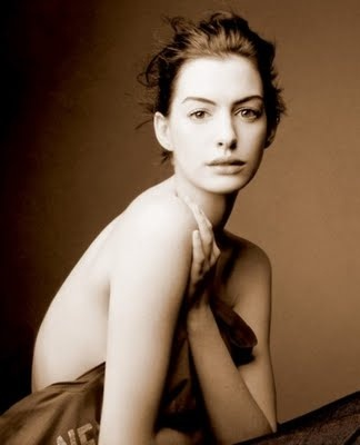anne hathaway - very different look