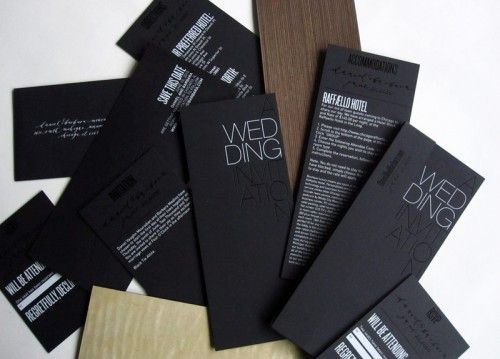 Wedding invitations. - wow...I really like these