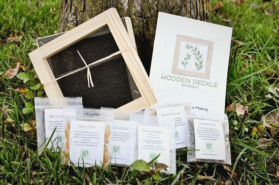 The Square Handmade Paper Making Kit by elizabethsflowers on