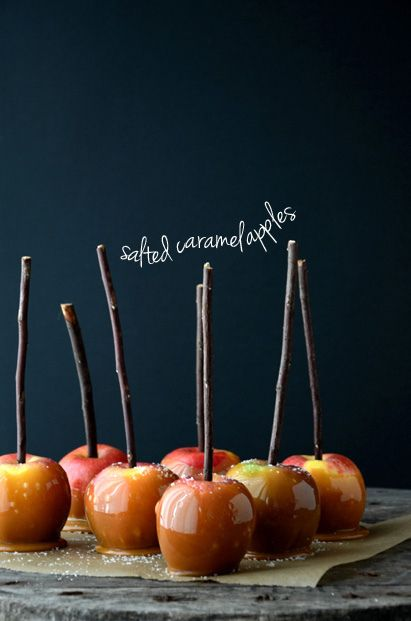 Salted caramel apples.