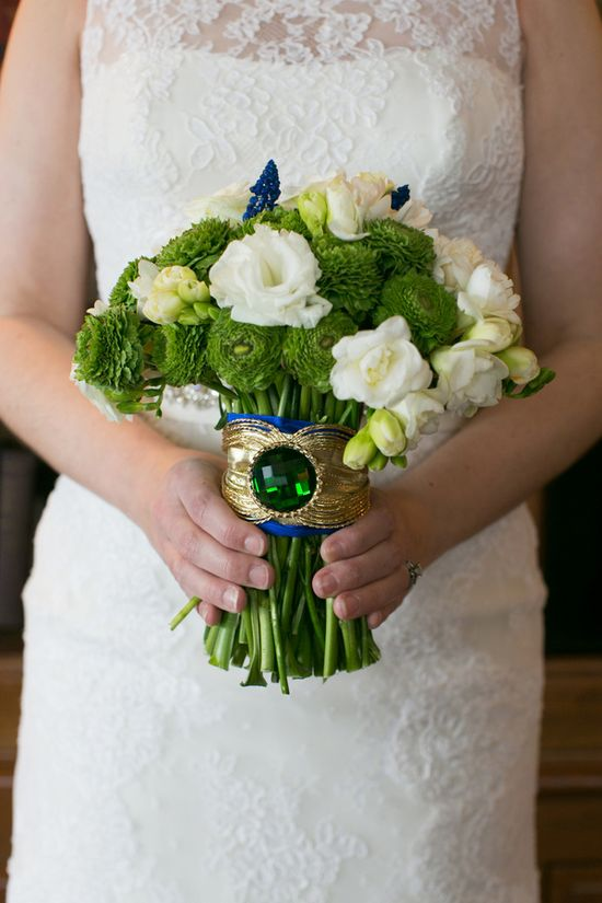 emerald wedding bouquet // photo by Erin Johnson // flowers by Sadie's Couture Floral