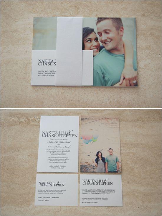 photo wedding invites