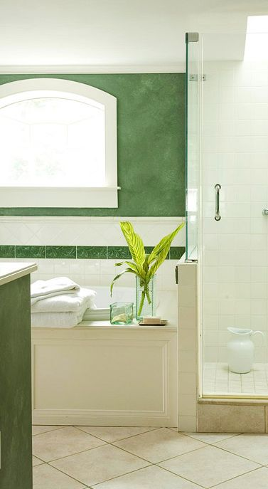 50 Shades of Green: Green Bathroom Design Ideas