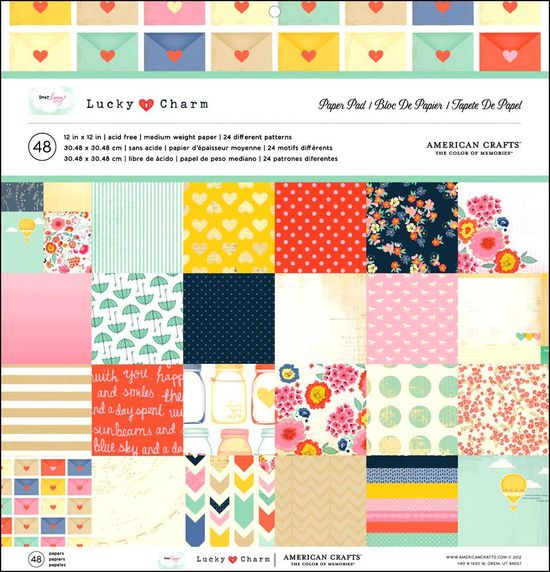 American Crafts Pebbles Paper Pad Best of Pebbles 180//Pack 12 by 12-Inch