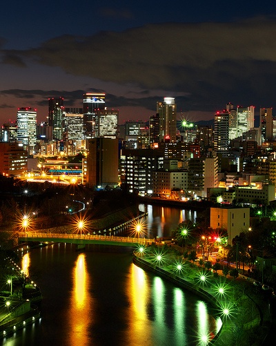 Osaka Twilight Skyline