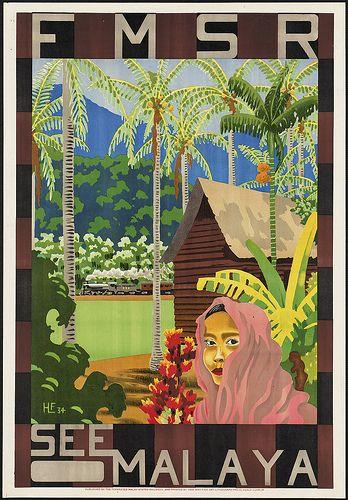 Vintage Malaysia Travel Poster