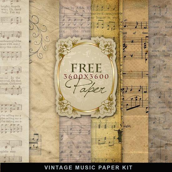Freebies Vintage Music Paper