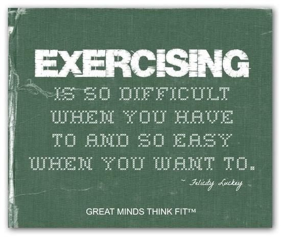 Exercising...