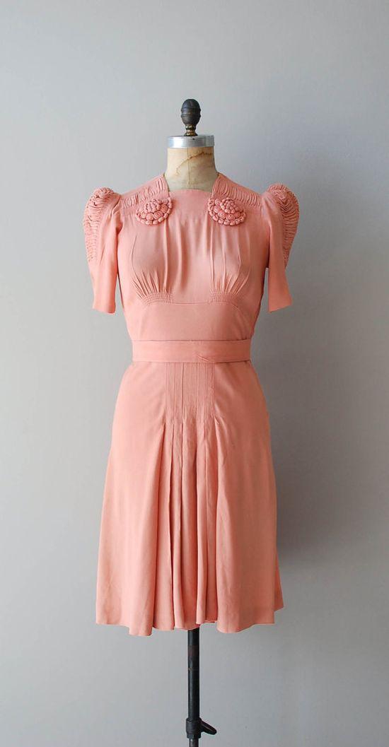 vintage 1930s rayon dress