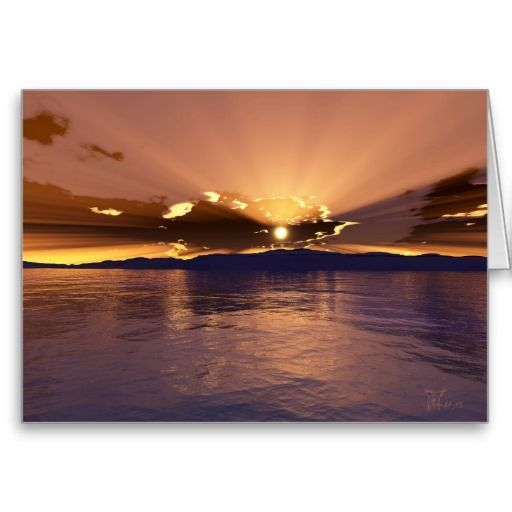 Afterglow - Greeting Card