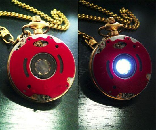 Steampunk Iron Man Reactor Pocket Watch
