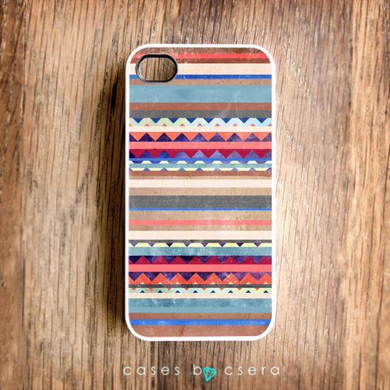 Unique iPhone Case, Wood iPhone 4 Case, Tribal Trend iPhone 4S Case, Snap on Case, Cell Phone Case Geometric Case, Design iPhone