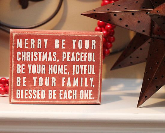 sweet saying for Christmas Cards!