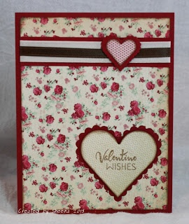 handmade Valentine Card featuring stamps from @Verve Stamps, papers from #MyMindsEye, heart dies from @Spellbinders