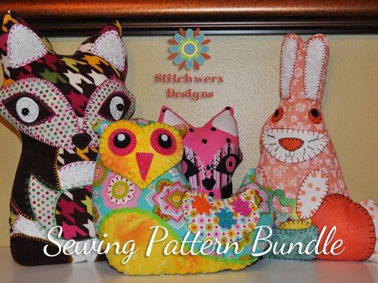 Animal Pillow Sewing Pattern Bundle - Choose Any 3 Animal Pillow PDF Sewing Patterns for only 11.00. $11.00, via Etsy.
