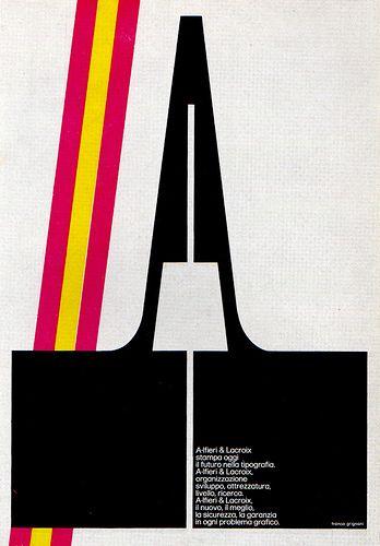 """Franco Grignani de Alfieri y Lacroix - Milano, Italia.  """"El arte gráfico es la geometría de la intuición.""""- Franco Grignani"""