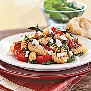 Rotini with Chicken, Asparagus, and Tomatoes | CookingLight.com
