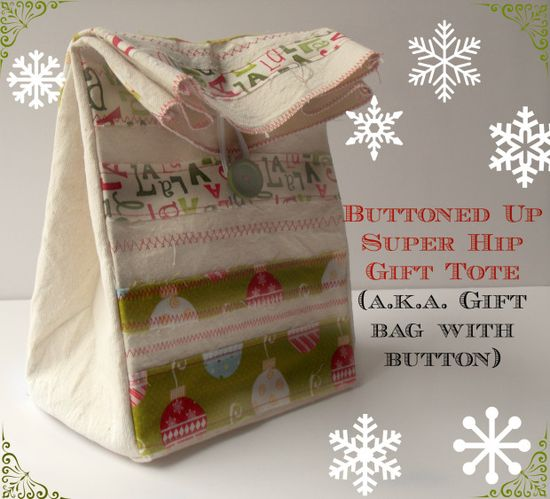 I would love to get one of these DIY gift totes! (aka gift bag). Sewing directions from Windsor & Main