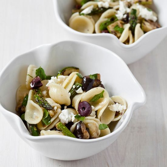 Pasta Salad with Grilled Vegetables, Parsley and Feta // More Pasta Salads: www.foodandwine.c... #foodandwine