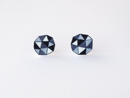 Geometric Stud Earrings by rareindeed as featured by Shop Til You Drop in the Etsy Summer Shopping Guide.
