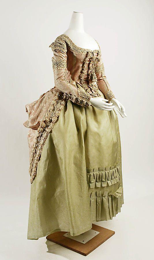 1778-80 French silk dress