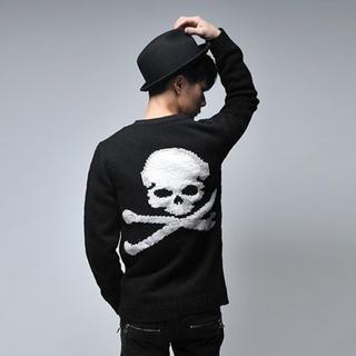 """SLIM  """"Skull"""" Knit Cardigan"""