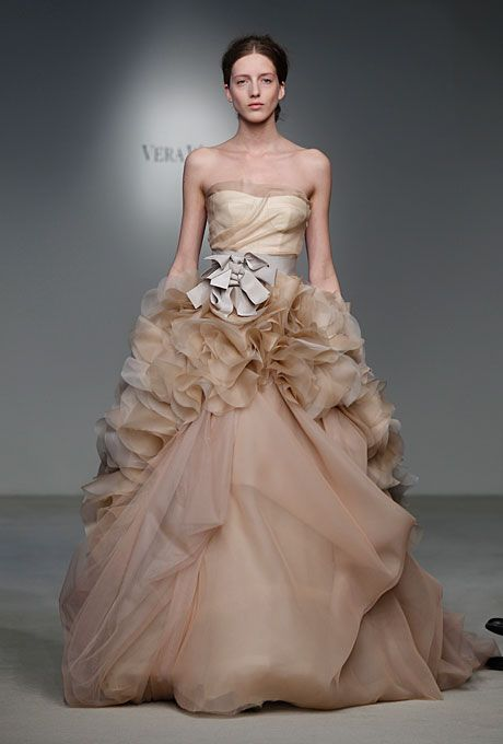 Vera Wang Spring 2012.  I love the color...it can carry the fluff.
