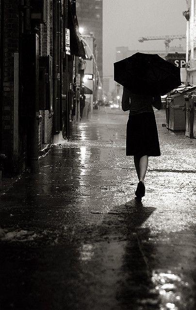 the rain.