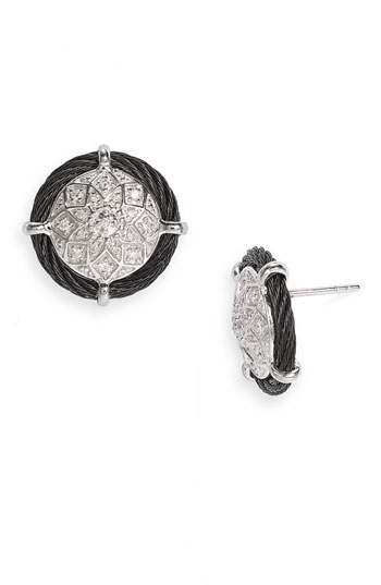 Earings to Match - Charriol 'Classique' Diamond Button Earrings