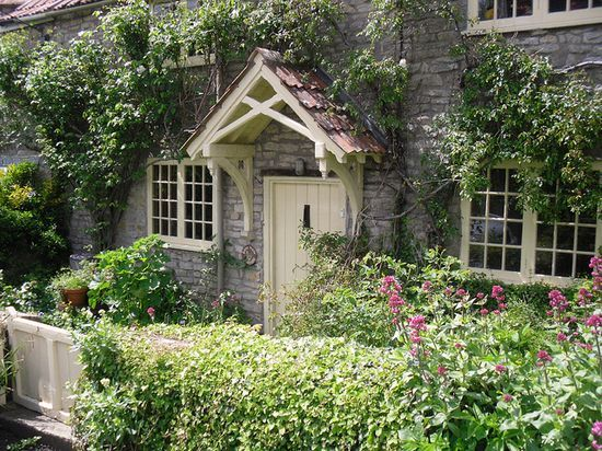 English #garden decorating before and after