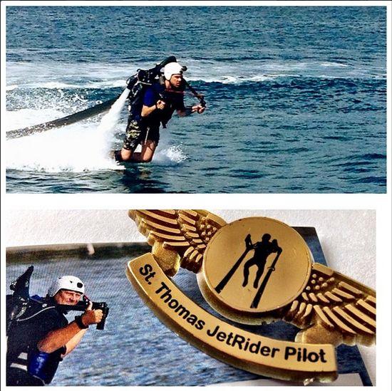 Matt flies high on a jet pack at the Frenchman's Reef Marriott Beach Resort! #passporttoparadise