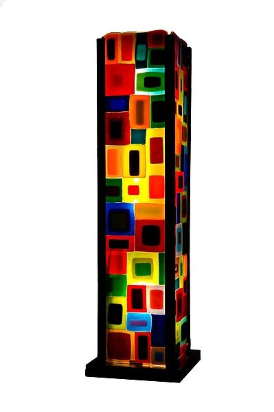 Carnival Table Lamp: Helen Rudy: Art Glass Table Lamp - Artful Home