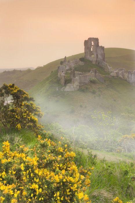 Corfe Castle ruins ,Dorset, UK