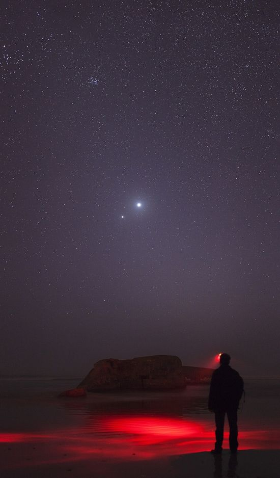 14 Of The Year's Most Amazing Space Photos#######  Venus - Jupiter Conjunction 2012 (winner)