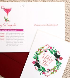 Candy Cane Cosmo Holiday Cards.