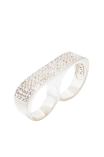 Argent Ice Classic Sparkle Twosome Ring