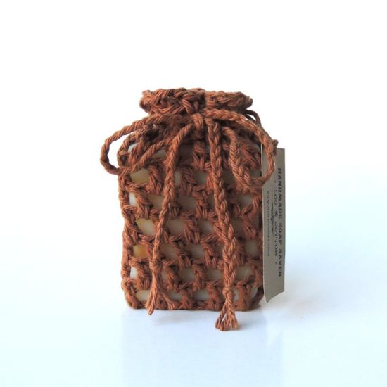 Soap saver Crochet soap saver Cotton soap sack by RightSoap, $6.00