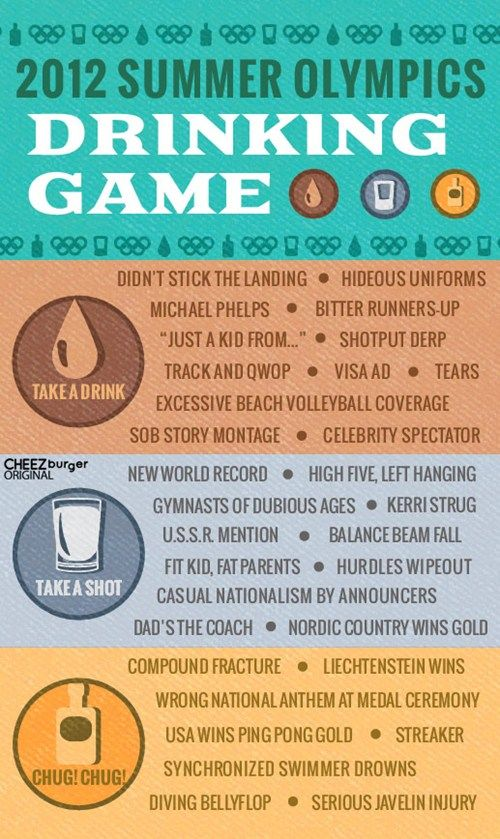 Olympic Drinking Game, haha!
