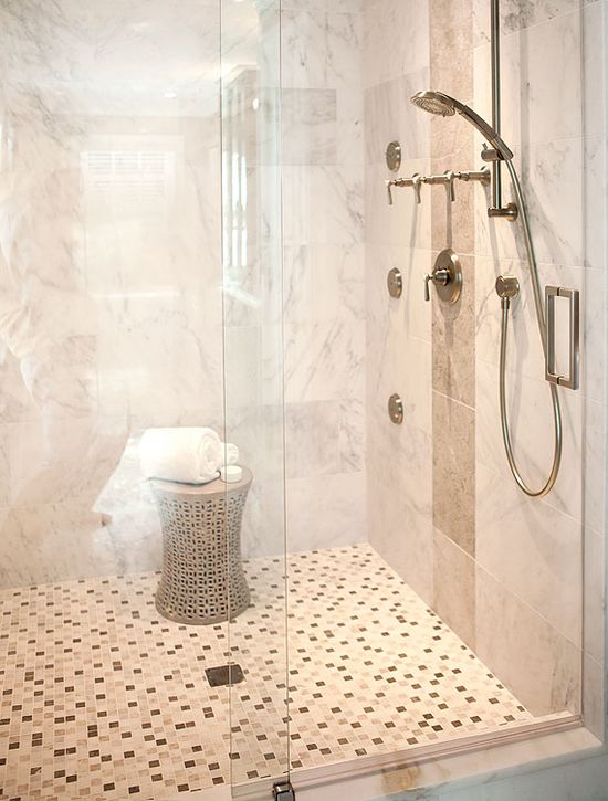 2013 Bathroom Predictions: Oversize showers will continue to replace bathtubs.
