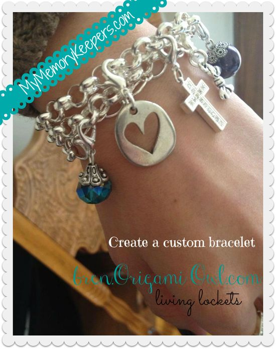 Origami Owl Living Lockets ~ custom bracelet