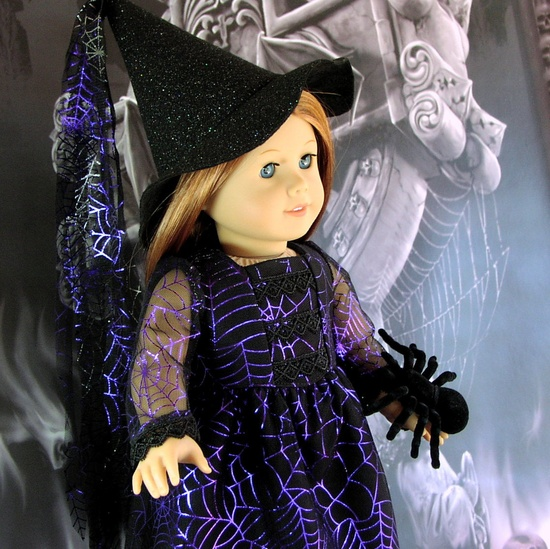 Princess Arachnida - Gothic Fantasy Witch Costume - American Girl doll clothes. $45.00, via Etsy.