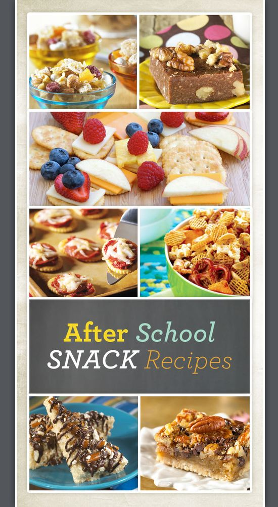After School Snack Ideas great idea in stead of ur kids coming home and home complanning u have some thing ready when they say the words I'm hunger