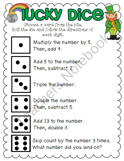 Lucky Dice Math Game