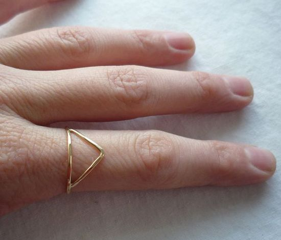 Trilateral Triangle Ring by Gunnard Jewelry
