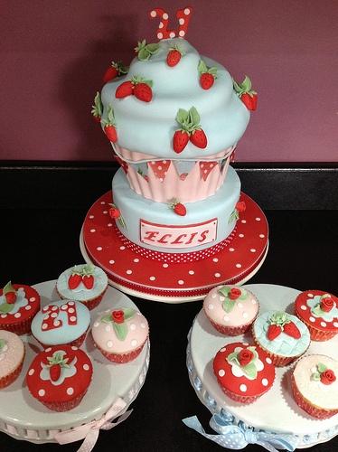 Cath kidston giant cupcake cake