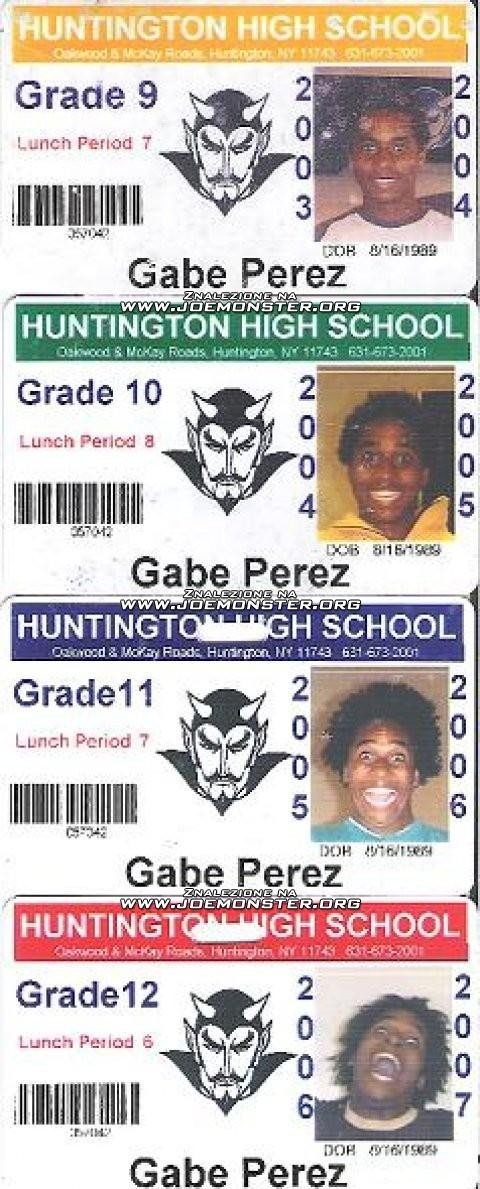 Funny high school picture ID's from 9-12th grade