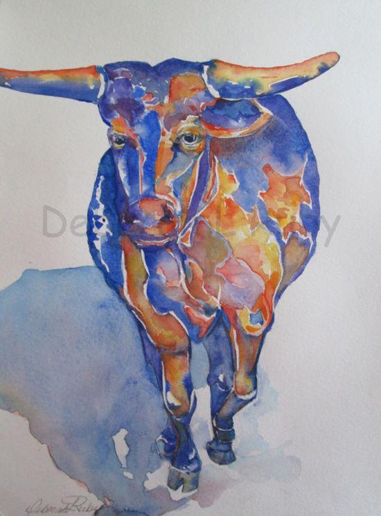 Art Painting Watercolor Original Deborah L Ruby by DLRubyspalette, $275.00