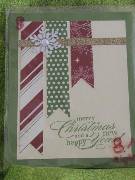 Christmas bunting  Christmas Card Stampin Up