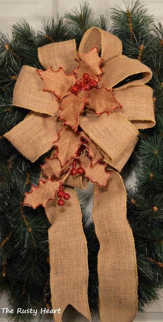 Decorated Burlap Bow.