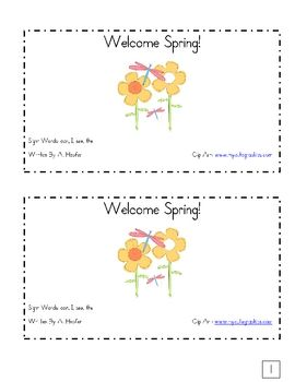 This reader is perfect for spring! It contains several important sight words and it also has a predictable rhyming pattern. Your students will love...